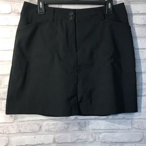 Nike Golf Dri-Fit Black Skort 8